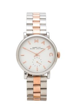 Marc by Marc Jacobs Baker Watch in Silver & Rose Gold