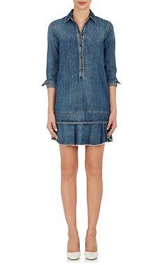 We Adore: The Ruffled-Hem Cotton Denim Shirtdress from Robert Rodriguez at Barneys New York