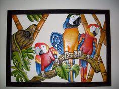 Guacamayas talladas en madera Tropical Art, Mural Art, Bird Art, Clay Art, Parrot, Disney Characters, Fictional Characters, Mosaic, Sculpture