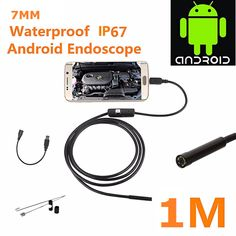 Hot Sale Special Offer 1M 7mm Lens USB Endoscope Waterproof 6 LED Inspection Borescope Tube Snake Camera For Android PC #Affiliate