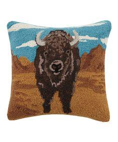 Peking Handicraft Desert Buffalo Wool Throw Pillow   zulily