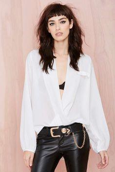 Bing Wrap Blouse - White