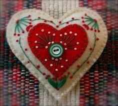 Felt Christmas Heart Swedish