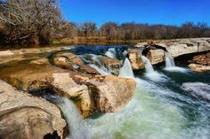 Day Trip outside of Fredericksburg McKinney Falls State Park - located at the southeastern edge of Austin, Texas, For more info: www.us/state-parks/mckinney-falls State Parks, Texas Parks, Austin Texas, Places To Travel, Places To See, Travel Things, Mckinney Falls State Park, Texas Vacations, Waterfalls