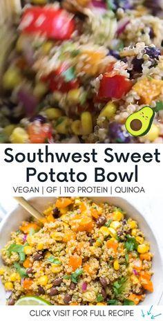 Quinoa Recipes Easy, Vegan Recipes Videos, Avocado Recipes, Healthy Eating Recipes, Healthy Chicken Recipes, Easy Dinner Recipes, Vegetarian Recipes, Easy Meals, Healthy Meals