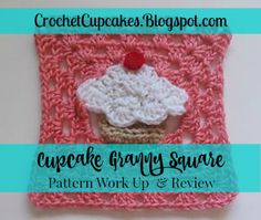 I just loved working up this project!  How cute is it?!?  Cupcake Granny Square Crochet Pattern Work Up and Review