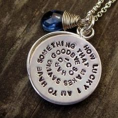 Layered Hand Stamped Locket In Sterling Silver by Donna Okino