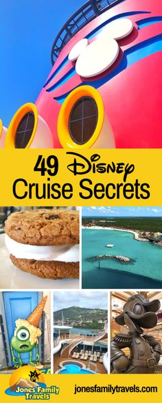 49 Disney Cruise secrets for your Disney Cruise vacation. These are insider tips I learned from cruises and crews members on the Disney Cruise Ships. Disney Resorts, Disney World Vacation, Disney Vacations, Disney Trips, Disney Money, World Cruise, Disneyland Trip, Disney Travel, Family Vacations