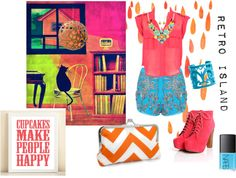 """Retro Island"" by rhinestonesandrouge on Polyvore"