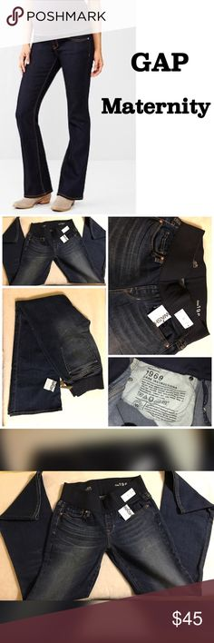 """GAP Sexy Boot Maternity Jeans Size 6 Brand new with Tags, size 6 Gap Maternity Jeans. All items from a smoke free home. Measurements are 32"""" waist across the button laying flat, 9"""" rise, Leg Opening is 9.5"""" with a 31"""" inseam.  No trades. GAP Jeans Boot Cut"""