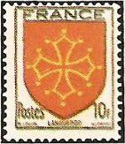 1944 - Stemmi di province francesi - II serie - Languedoc - 10 f.