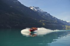 This week's Round T(r)ip: Enjoy a scenic Jet Boat ride on Lake Brienz. ‪#‎SwissGrandTour‬