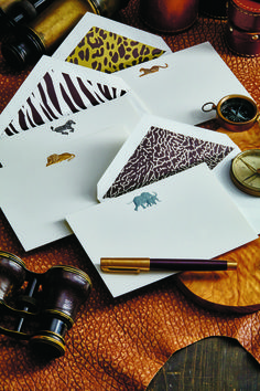 Engraved correspondence cards that elegantly capture the beauty of the animal kingdom.