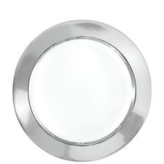 White Silver Border Premium Plastic Lunch Plates add a touch of silver to your table. With the look of fine china and the convenience of plastic ...  sc 1 st  Pinterest & 9\