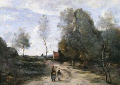 Jean Baptiste Camille Corot - The Road:
