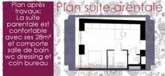L'aménagement d'une suite parentale avec salle de bain et dressing nécessite de…
