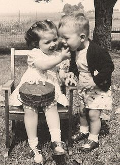 Mom & Uncle David - 1948 by sarahblascovich, via Flickr