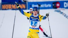 Sebastian Samuelsson, Peppe Femling, Martin Ponsiluoma and Thorsten Stenersen and Sweden victory this afternoon in the Hochfilzen men's relay2018