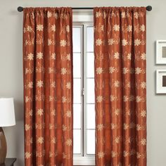 Softline Home Fashions Sutton Rod Pocket Curtain Single Panel Cool Curtains, Rod Pocket Curtains, Drapes Curtains, Blue And Copper, Home Decor Outlet, Window Treatments, Home And Garden, House Styles, Furniture