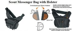 Scout Messenger Bag w/holster