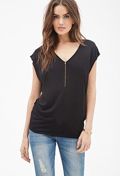 Oversized Zip-Front Top | Forever 21 - 2000057453