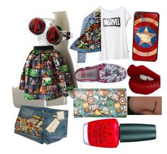 """""""MARVEL 5 EVER!!!!!"""" by saucy-girl ❤ liked on Polyvore featuring Uniqlo, Runwaydreamz, Charlotte Tilbury, OPI and totallyradical"""