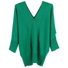 Magaschoni Double V-neck Dolman Sweater ($258) ❤ liked on Polyvore featuring tops, sweaters, verde, women sweaters/knits, magaschoni sweaters, double v neck sweater, dolman top, dolman sleeve knit top and knit tops