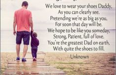 walking in your shoes dad quotes Happy Fathers Day Poems, First Fathers Day Gifts, Homemade Fathers Day Gifts, Preschool Gifts, Grilling Gifts, Dad Quotes, Couple Gifts, Daddy, How To Make