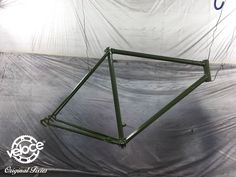 A 60s vintage Italian bicycle frame ready for the sanblasting and painting to be converted in a Veloce original fixie bicycle - velocecorporate.com