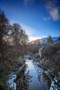 Clunie Water in Braemar, Scotland