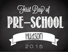 Love that this is personalized! First day of school sign!