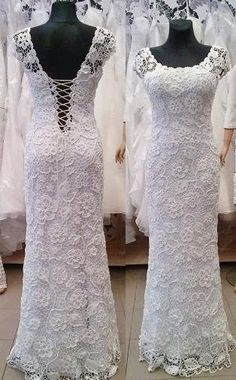 SALE Unique irish crochet white wedding by LaimInga on Etsy