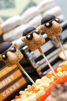 police party food robber cake pops
