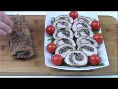 Rulada aperitiv din cotlet de porc cu ciuperci - YouTube I Foods, Vegetables, Ethnic Recipes, Youtube, Pork, Vegetable Recipes, Youtubers, Veggies, Youtube Movies