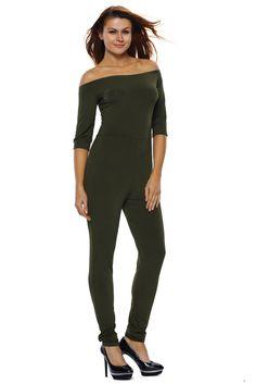 Overalls Split Leg Romper In One Jumpsuit Slash Net Bardot Off Shoulder Lounge Wear Kleidung & Accessoires