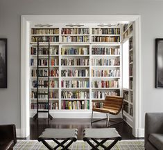 Library off the living room