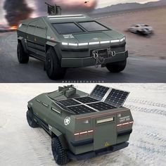 Tesla Cybertruck Gets Turned Into the Ultimate Tactical Military Vehicle Army Vehicles, Armored Vehicles, Concept Ships, Concept Cars, Bullet Proof Car, Tesla Semi Truck, Futuristic Cars, Futuristic Vehicles, E Mobility