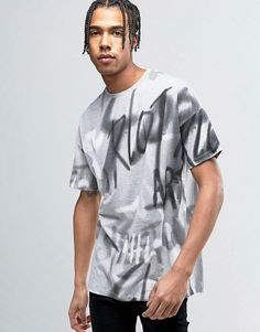 Asos Oversized T-Shirt With All Over Graffiti Print