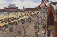 vintage beach - The Boardwalk Atlantic City NJ New Jersey