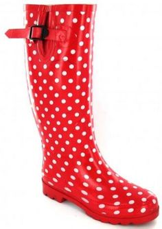 Red Polka Dot Rain Boots - Boot Hto