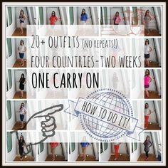 Two weeks in one carry on was no easy feat, but I did it and I'm never over packing again. Here's how I did it and what I wore.