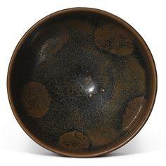 A RUSSET-SPLASHED BLACK-GLAZED BOWL. NORTHERN SONG / JIN DYNASTY