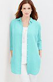 linen button-front tunic | J.Jill - also in shrimp (redish color) $39.99