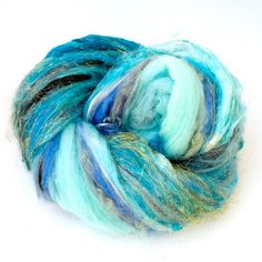Fiber Batt Art Batt Fiber Art Batt for Spinning or by HelloPurl, $37.00