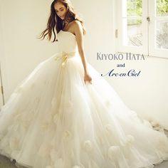 #プレタクチュール#アルカンシエル #ウエディングドレス#プレ花嫁 #ブライダル#花嫁#結婚式準備 #weddingdress #weddingideas #brides #couturefashion #flowerdress #kiyokohata #キヨコハタ