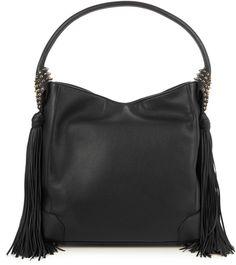 Shop Now - >  https://api.shopstyle.com/action/apiVisitRetailer?id=606625674&pid=uid6996-25233114-59 CHRISTIAN LOUBOUTIN Eloise hobo leather shoulder bag  ...