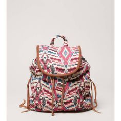 AEO Embroidered Backpack ($40) ❤ liked on Polyvore