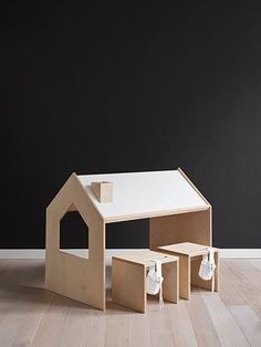 A stunning kids desk for drawing, writing and play for creative children by Polish designers Kutikai. Seats from one scribbler to four children for a coloring party. With a sweet chimney pen holder. We're in love with the smart, imaginative and playful design. The desk is crafted in a family run carpentry workshop in the south of Poland for the highest quality - that is safe, practical and robust. Everything we're looking for in modern furniture for children. Birch plywood...