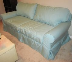 Custom Sofa Cover in Outdura Fabric
