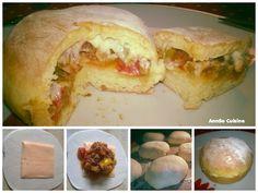 Buns fourrés à la bolognaise et au fromage